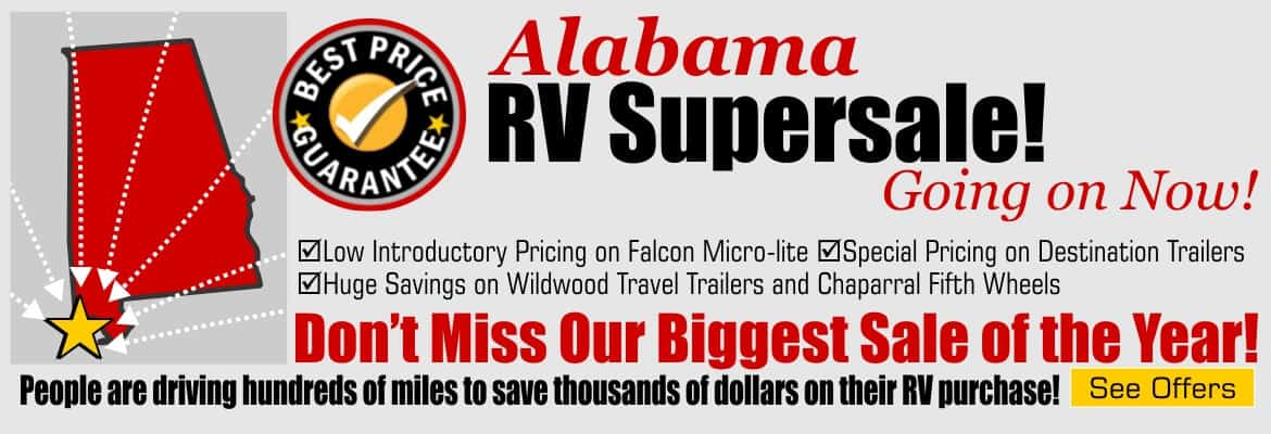 Alabama RV Supersale Going on Now!
